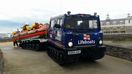 Weston's lifeboat was all set to launch this morning (Saturday). Picture: RNLI/Weston