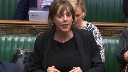 MP Jess Phillips delivers a passionate speech in the House of Commons. Photograph: House of Commons.