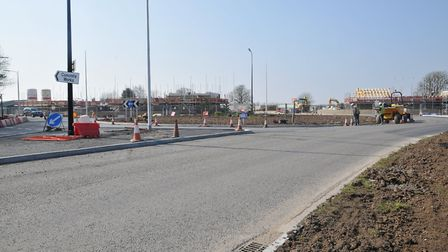 Building work began at Arnolds Way two years ago.