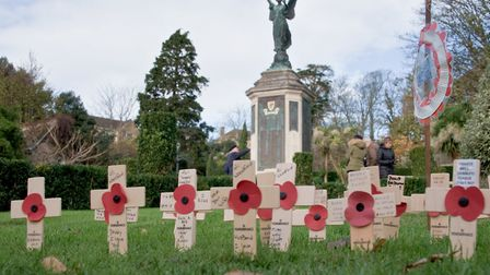 The memorial on Remembrance Day.