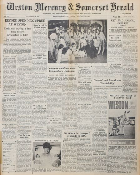 Front Page 22nd December 1967 Edition.