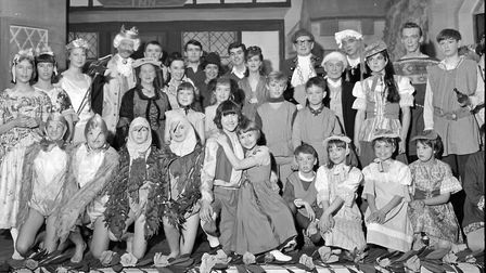 The new Church Hall at Winscombe was the setting of the village's ambitious production of the pantom
