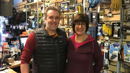 Outdoors And Active owner Paul Batts and his wife Julie.