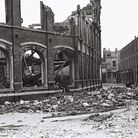 Wadham Street in Weston town centre suffered extensive bomb damage.