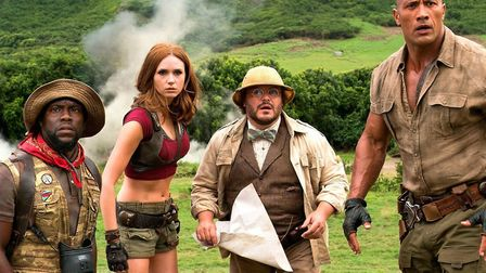 The stars of Jumanji: Welcome To The Jungle.