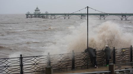 Stormy conditions are expected again in Clevedon tomorrow. Picture: Mike Bailey.
