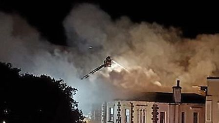 The fire at Lynton House Hotel, taken by Aideen Higgins.