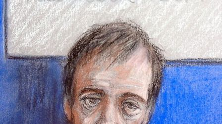 Darren osborne, as sketched during a previous court hearing, by Elizabeth Cook. Picture: Elizabeth C