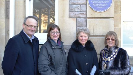 The Mayor of Weston Jos Holder, along with members of Henry Butt's family, unveiled the plaque. Pict