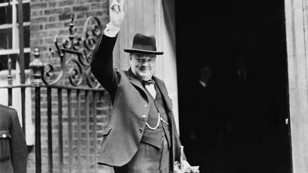 Winston Churchill outside 10 Downing Street in June 1943, the month in which Allied powers launched