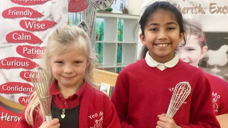 Pupils held a bake-off to raise money for books.