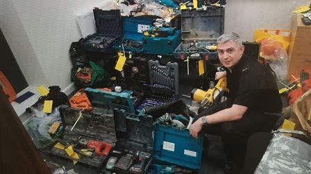 Police are still reuniting stolen tools with their owners. Picture: Avon and Somerset Constabulary
