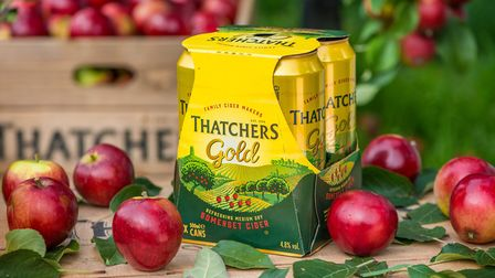 The Thatchers cans, using cardboard instead of plastic. Picture: Neil Phillips