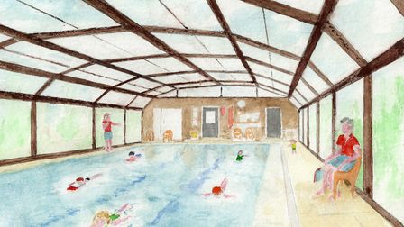 The artist's impression of the pool. Picture: Maurice Brain