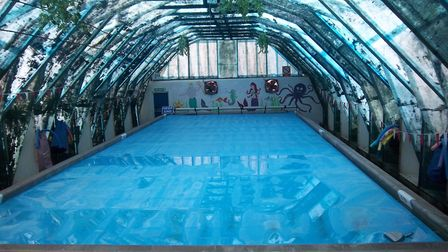 The pool at the moment. Picture: Peter Stanley