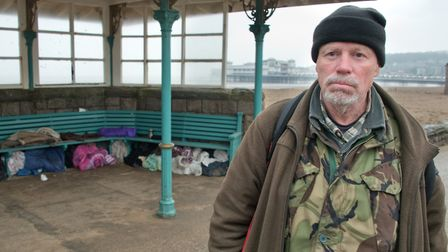 A group of homeless people living in shelters on Weston seafront have been on the receiving end of c