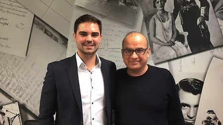Chris Frappell with Touker Suleyman, who has invested £75,000 in his business.