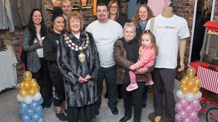 Opening day at Pepperstone UK in Whitecross Road, with the mayor Cllr Jos Holder, owner Ronnie Griff