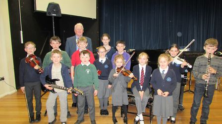 Pupils at the Wrington Vale Rotary Club music competition.