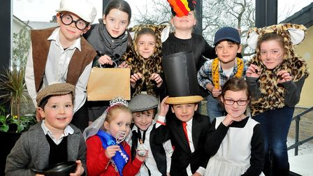 Children dressing up for World Book Day at All Saints Primary School in Clevedon. Picture: Jeremy Lo