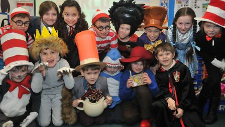 Kids dressing up as favourite book character at St Francis' Primary School. Picture: Jeremy Long.