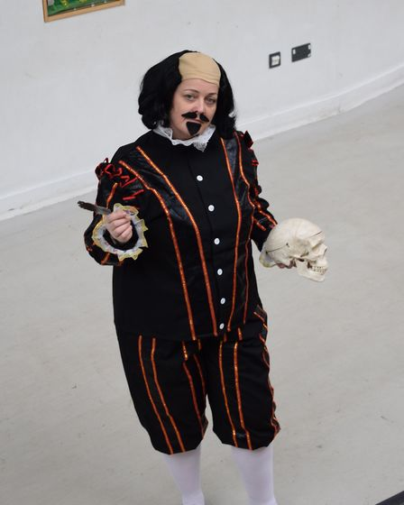 A World Book Day costume inspired by Shakespeare's Hamlet.