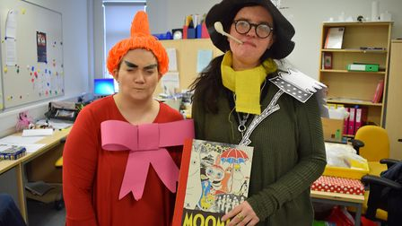 Teachers from Nailsea School dressed up for World Book Day.