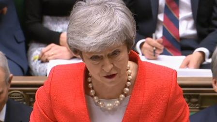 Prime minister Theresa May at PMQs in the House of Commons Pic: Parliament