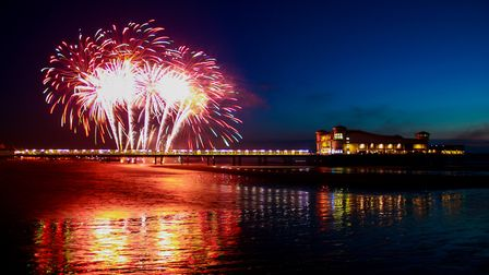 Fireworks on the Grand Pier. Picture: Jackie Caven