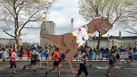 T-rex to run London Marathon.
