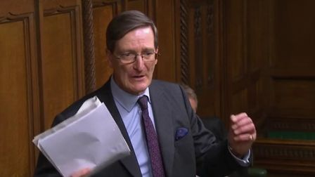 Dominic Grieve in the House of Commons. Photograph: Parliament TV.