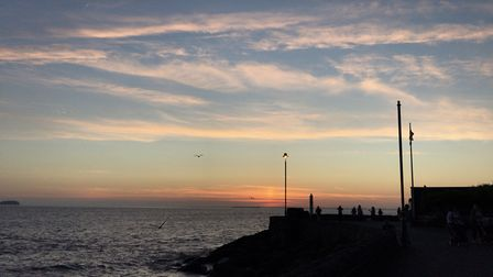 Lush sunny evening on weston seafront. Picture: Emily Eades