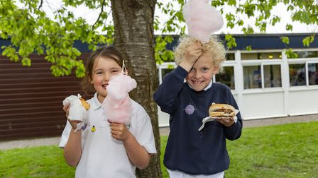 Candyfloss was a popular attraction at the fair.