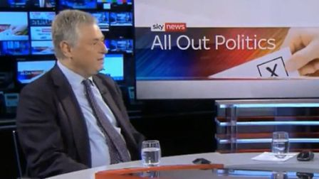 Martin Howe QC from Lawyers for Britain speaks to Sky News' Adam Boulton. Photograph: Sky.