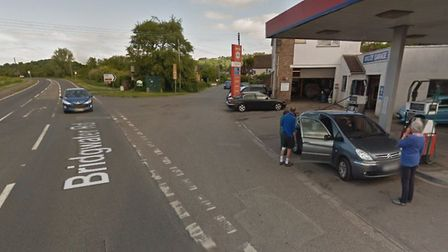 The site of the crash. Picture: Google Maps