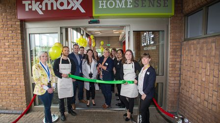 Store manager Kate Maggs opens the Homesense store. Picture: Francis Hawkins
