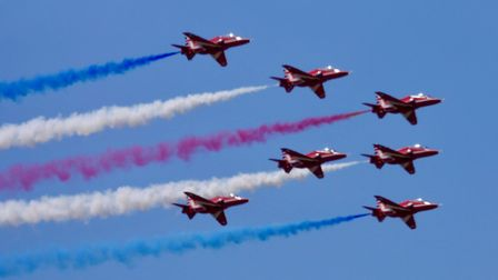 The Red Arrows at Weston Air Festival. Picture: James Walters