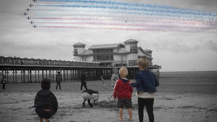 The Red Arrows in Weston. Picture: Victoria Berg