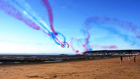 Red Arrows in Weston. Picture: Martin Powis