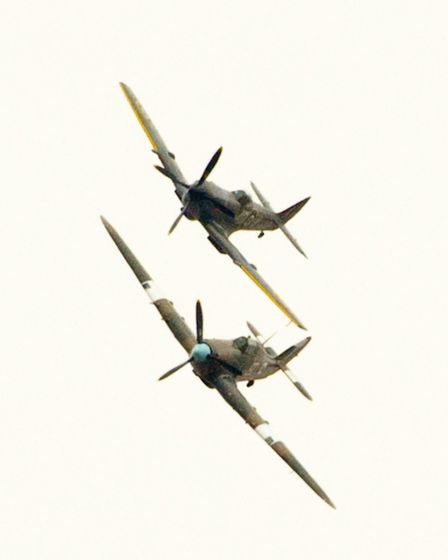 A Spitfire and a Hurricane visiting Weston