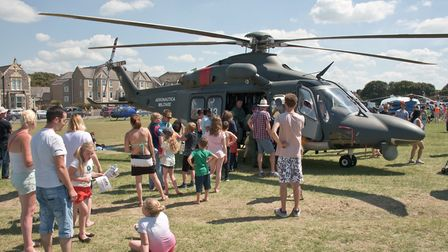 Helicopters have been in the air - and the ground in previous years.