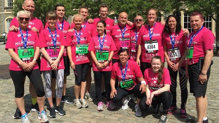 The Pullin's team completed the Bristol 10K race in May.