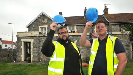 The new licensees of The Nut Tree pub in Worle L-R Terry Reynolds and Stuart Mottram.