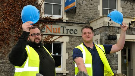 The new licensees of The Nut Tree pub in Worle, Terry Reynolds and Stuart Mottram.