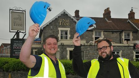 The new licensees of The Nut Tree pub in Worle, Stuart Mottram and Terry Reynolds. Picture: Jeremy L