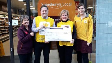 The store raised £100 for Marie Curie last year.
