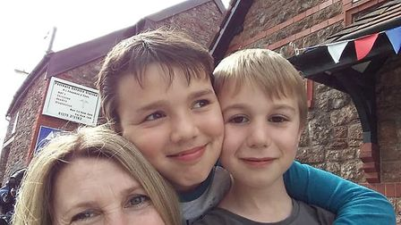 Fabienne Vailes with her two sons.