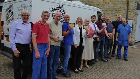 Some of the team at Cheddar Gorge Cheese Company.