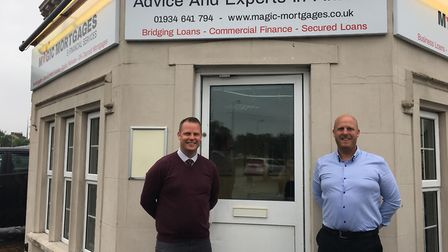 Paul and Chris O'Rourke outside of Magic Mortgages.