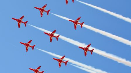 The Red Arrows at Weston Air Festival.